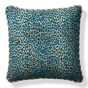 Charming Leopard Luxe Peacock Outdoor Pillow