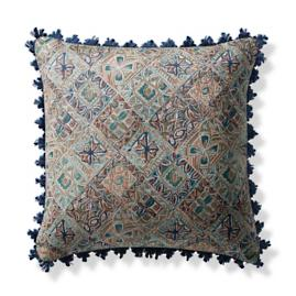 Mosaic Vibe Jade Outdoor Pillow