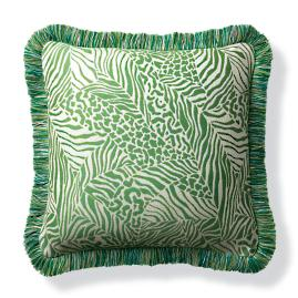 Patchwork Wilds Kiwi Outdoor Pillow