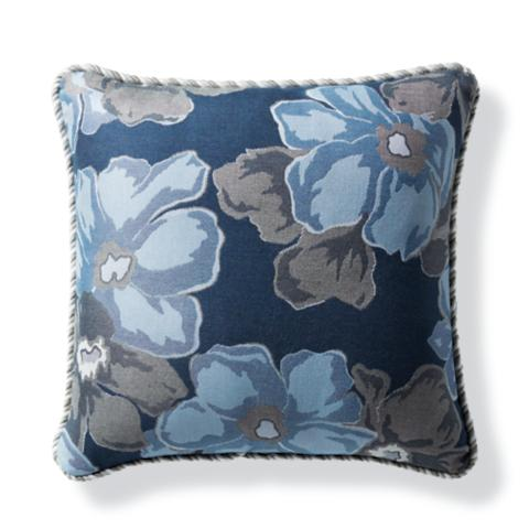 Beautiful Rosalba Air Blue Outdoor Pillow