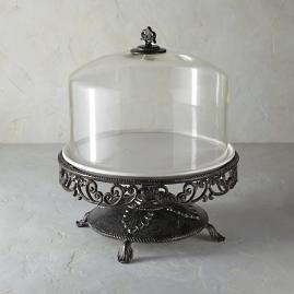 Kitchen Classics Cake Stand with Glass Dome