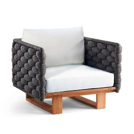Mecca Lounge Chair with Cushions by Porta Forma