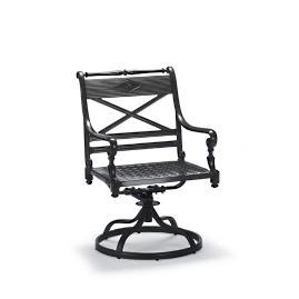 Carlisle Swivel Dining Arm Chair in Onyx Finish