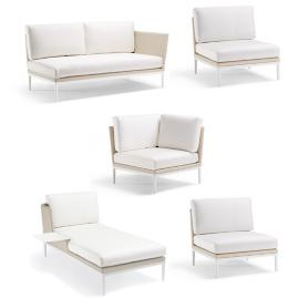 Palazzo Shell 5-pc. Left-facing Chaise with Table Set