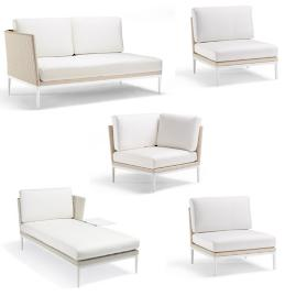 Palazzo Shell 5-pc. Right-facing Chaise with Table Set