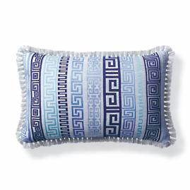 Athena Stripe Dove Outdoor Lumbar Pillow