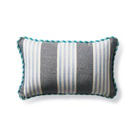 Berwyn Stripe Air Blue Outdoor Lumbar Pillow