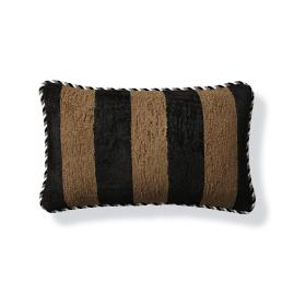 Caicos Stripe Earth Outdoor Lumbar Pillow