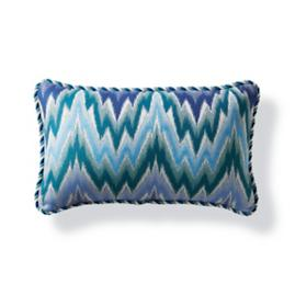 Fiamma Ikat Peacock Outdoor Lumbar Pillow