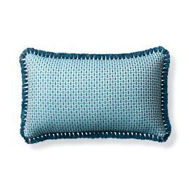 Woven Echo Peacock Outdoor Lumbar Pillow