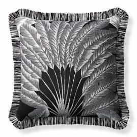Atherton Palm Onyx Outdoor Pillow