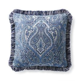 Calais Paisley Cobalt Outdoor Pillow