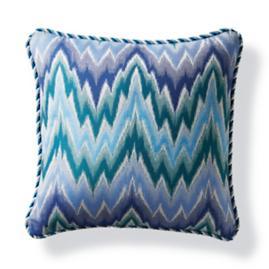 Fiamma Ikat Peacock Outdoor Pillow