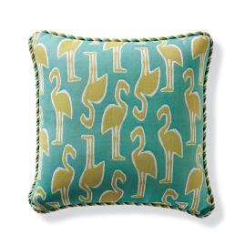 Flamingo Coast Citrus Corded Outdoor Pillow
