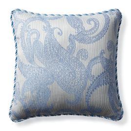 Hampton Paisley Air Blue Outdoor Pillow