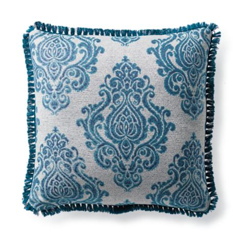 Captivating Regal Manor Peacock Outdoor Pillow