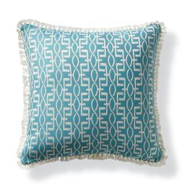 Geo Helix Aqua Outdoor Pillow