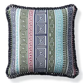 Athena Stripe Caribbean Outdoor Pillow