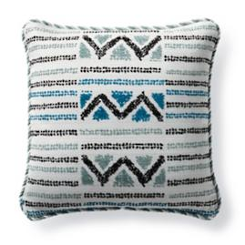 Porto Novo Peacock Outdoor Pillow