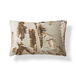 Mermaid Sequin Champagne Lumbar Pillow