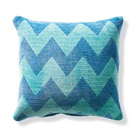 Harper Chevron Mist Outdoor Pillow