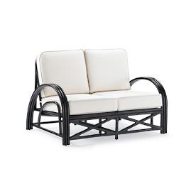 Lola Rattan Loveseat with Cushion
