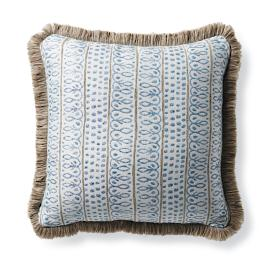 Nishiki Stripe Lagoon Outdoor Pillow