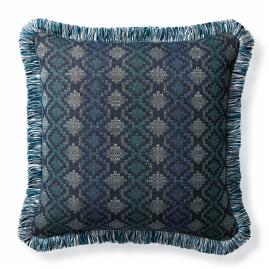 Stairstep Prism Indigo Outdoor Pillow