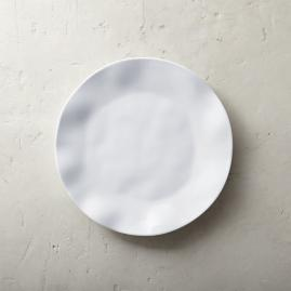 Ruffle Melamine Dinner Plates, Set of Four