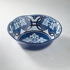 Mediterranean Tile Serving Bowl