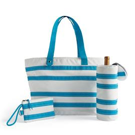 Nautical Stripes Tote Bag Set