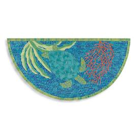 Mosaic Turtle Half Round Mat