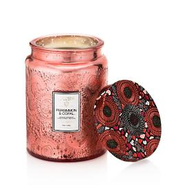 Voluspa Persimmon and Copal Glass Candle