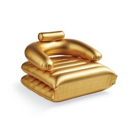 Metallic Gold Convertible Pool Chair Float
