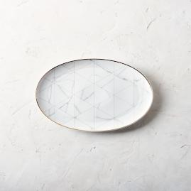 Carrara Oval Platter by Porta Forma