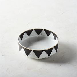 Carrara Geometric Serving Bowl by Porta Forma