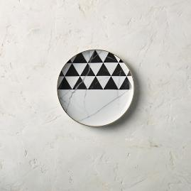 Carrara Dessert Plates by Porta Forma, Set of
