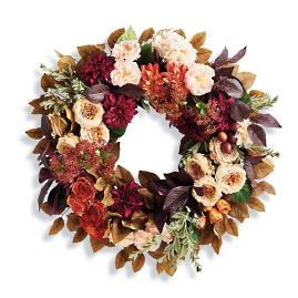 Autumn Dahlia Wreath