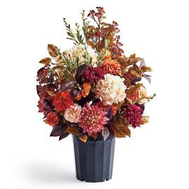 Autumn Dahlia Urn Filler