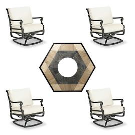 Carlisle Swivel 5-pc. Fire Chat Set with Nova