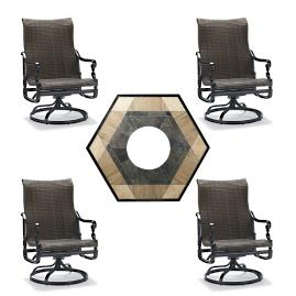 Carlisle Woven Swivel 5-pc. Fire Chat Set with