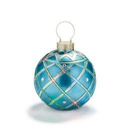 Fiber Optic LED Blue Ornament