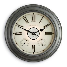 Collins Copper Illuminated Outdoor Clock