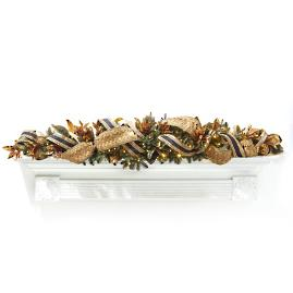 Gilded Soiree 6' Cordless Swag Garland with Drop