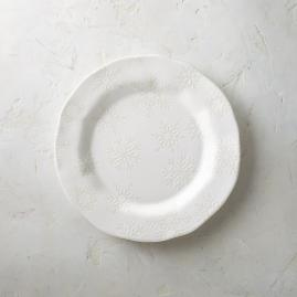 Reverso Snowflake Dinner Plates, Set of Four