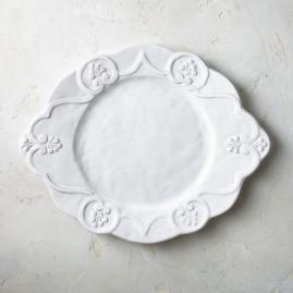 Bella Bianca Scalloped Chargers, Set of Two