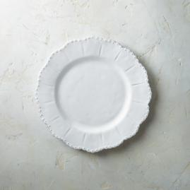 Bella Bianca Beaded Dinner Plates, Set of Four