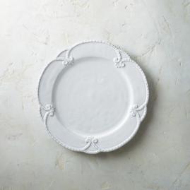 Bella Bianca Rosette Dinner Plates, Set of Four