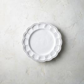 Bella Bianca Beaded Salad Plates, Set of Four