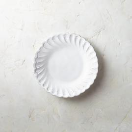 Bella Bianca Pique Salad Plates, Set of Four